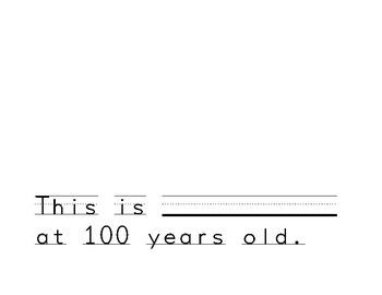 100 Years Old Writing