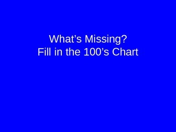 100 chart fill in