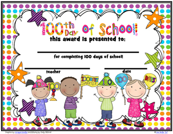 100 Day Award Certificates