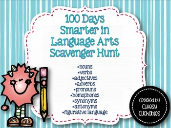 100 days Smarter in Language Arts {100th Day Scavenger Hun
