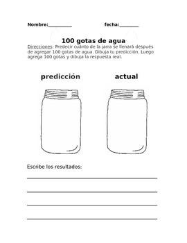 100 gotas de agua (A science experiment)-Spanish