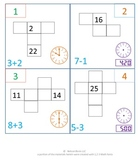 1st Grade & 2nd Grade Math Calendar - 100 chart, time, eve