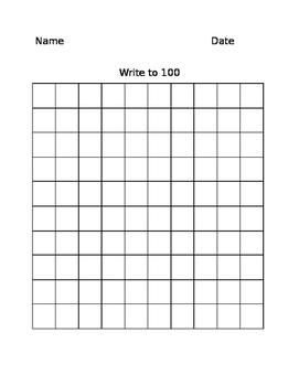 100's Chart