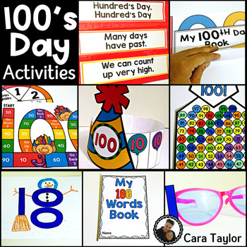 100's Day ~ Hundred's Day Activities and Centers