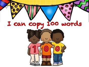 100 school days writing sheets