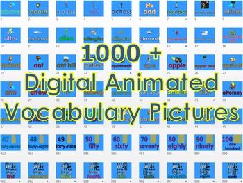 1000 + Animated Digital Vocabulary PowerPoint Presentation Bundle