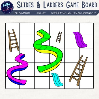 Slides & Ladders Gameboard Clipart