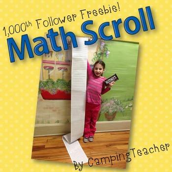 1000th Follower Freebie! Math Scroll