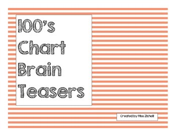 100's Chart Brain Teasers
