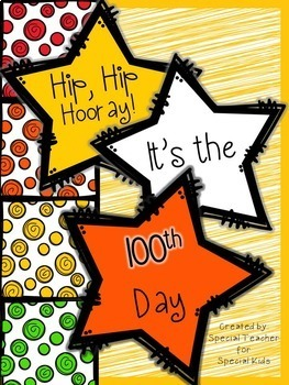 100th Day Activities-- Mini Booklet (No Prep)