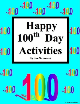 100th Day Activities for the English or Foreign Language C