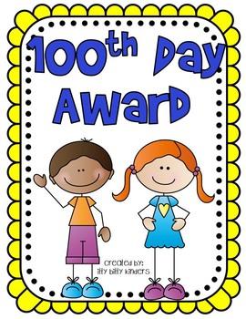 100th Day Award