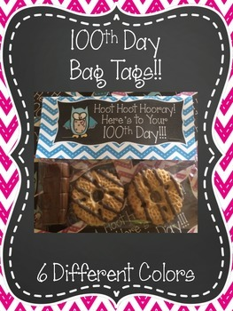 100th Day Bag Tags {FREEBIE}