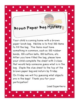 100th Day Brown Bag Mystery