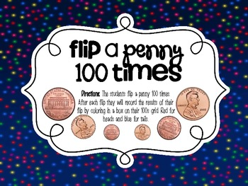 100th Day Center {Flip a Penny 100 Times}