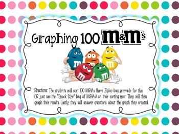 100th Day Center {Graphing 100 M&Ms}