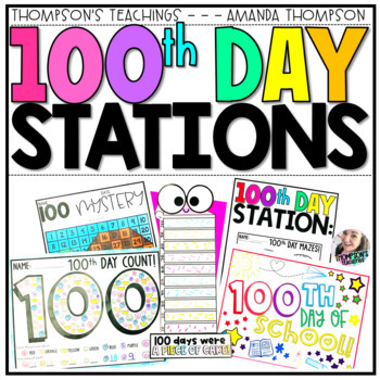 100th Day of School- Center Pack- Ready to Print!
