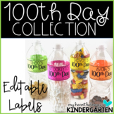 100th Day Collection Letter and EDITABLE Labels