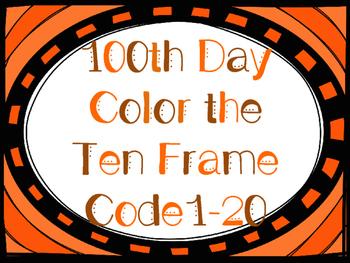 100th Day Ten Frame FREE