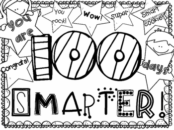 100th Day Coloring Page ~ FREEBIE!