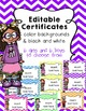 100th Day - {Editable} bookmarks-{Editable} Certificates-