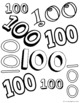 100th Day Fun Stuff Freebie - Printables for the Hundredth