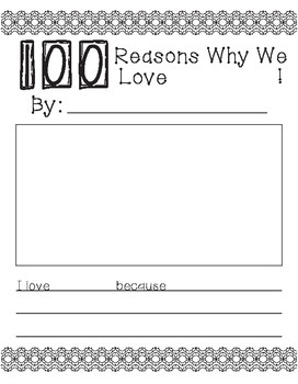 100th Day Fun Writing Activities