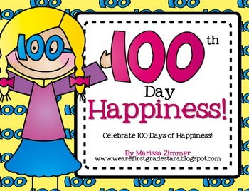 100th Day of School Happiness - Writing, Printables, and C