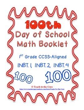 100th Day Math Book for First Grade 1.NBT.