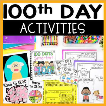 100th Day  Math and Literacy Fun! Mini Unit