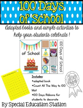 100th Day Of School Adapted Book and Activity