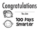 100th Day Of School Award and Certificate