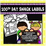 100th Day Snack Bag Tags