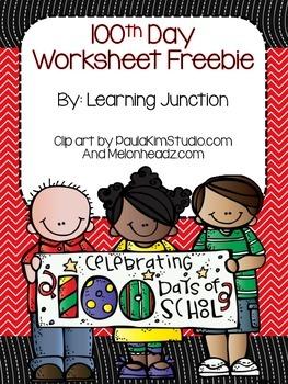 100th Day Worksheet Freebie