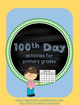 100th Day Writing Prompts for Primary Activities