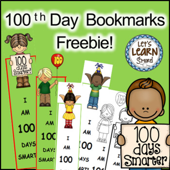100 Days of School Bookmarks, 100th Day of School Activiti