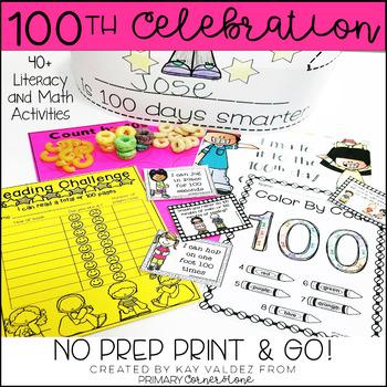 100th Day of School Print & Go Activities