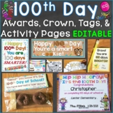 100th Day of School Awards (Certificates), Crown, Tags, Ba