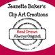 100th Day of School Clip Art by Jeanette Baker (Set #2)