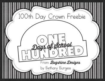 100th Day of School Crown Printable Freebie