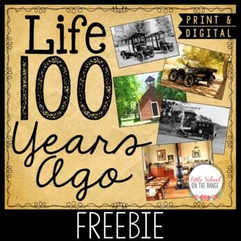 Life 100 Years Ago - Communities and Change FREEBIE