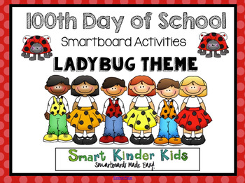 100th Day of School - Ladybug Theme - Smartboard Activities