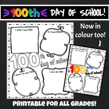 100th Day of School Printable Freebie!