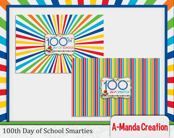 100th Day of School Printable Smarties Wrappers