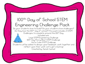 100th Day of School STEM Challenge Pack