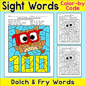 100th Day Of School Activities Color By Sight Words 1660487 on Nd Grade Spelling Worksheets Math Cover