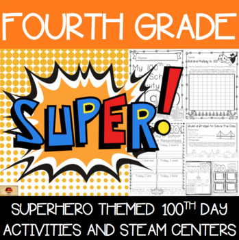 100th Day of School Superhero Themed {Fourth Grade}