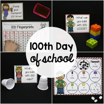 100th Day of School Activities - EDITABLE