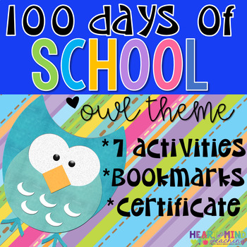 100th Day of School Owl Themed Packet