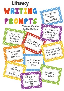 102 Literacy Writing Prompt Idea Cards - Inspire the unins